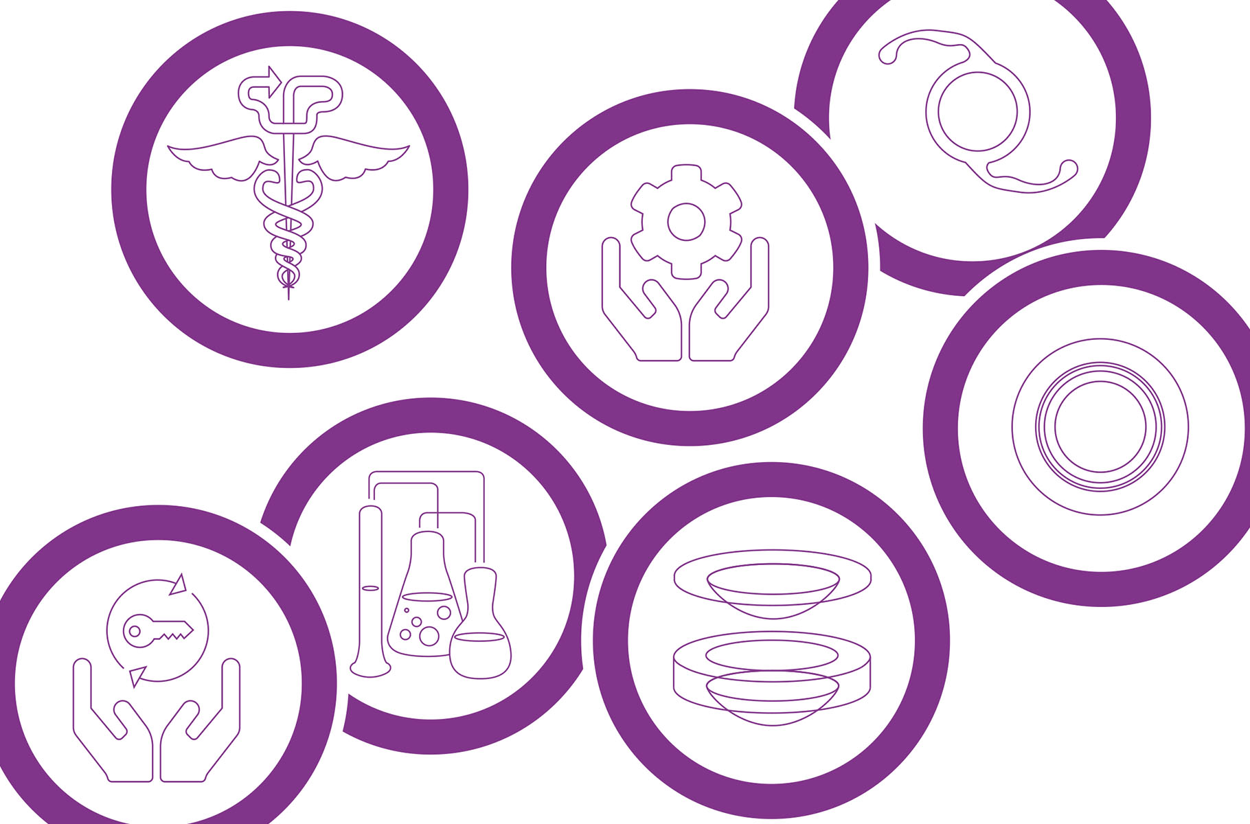 Bespoke iconography designed to identify all services